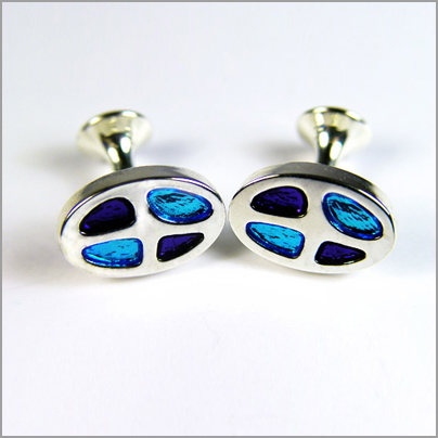 Rhodium Plated Cufflinks