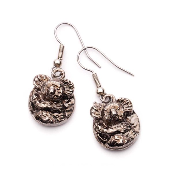 Koala Earrings Round style in Nickel