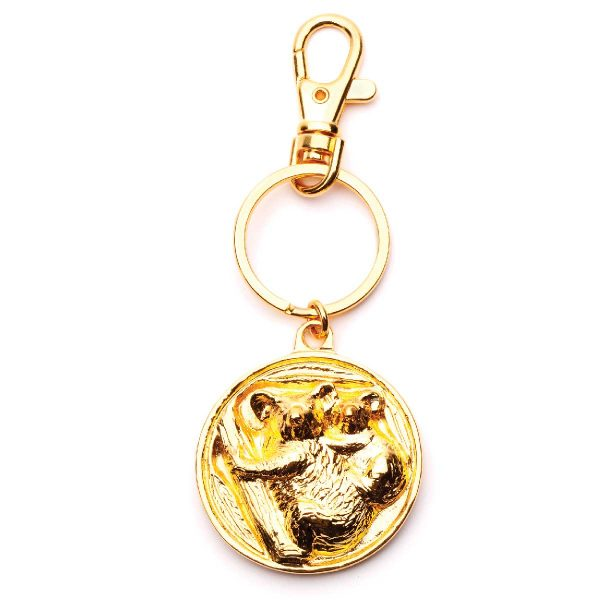 Koala Disk keyring in Gold