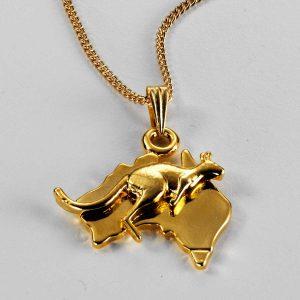 Australia with motif pendant