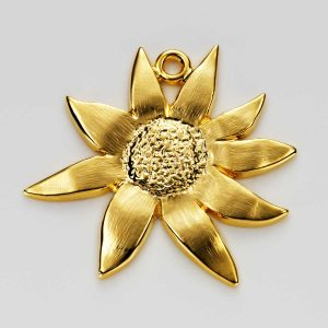 Flannel Flower Charm in Gold 3