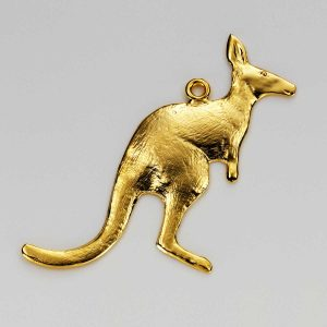 Kangaroo Charm in Gold 3