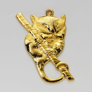 Ringtail Possum Charm in Gold 3