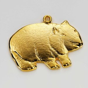 Wombat Charm in Gold 3
