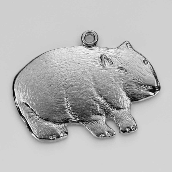Wombat Charm in Silver 3