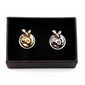 Gold and Nickel Kangaroo cufflinks