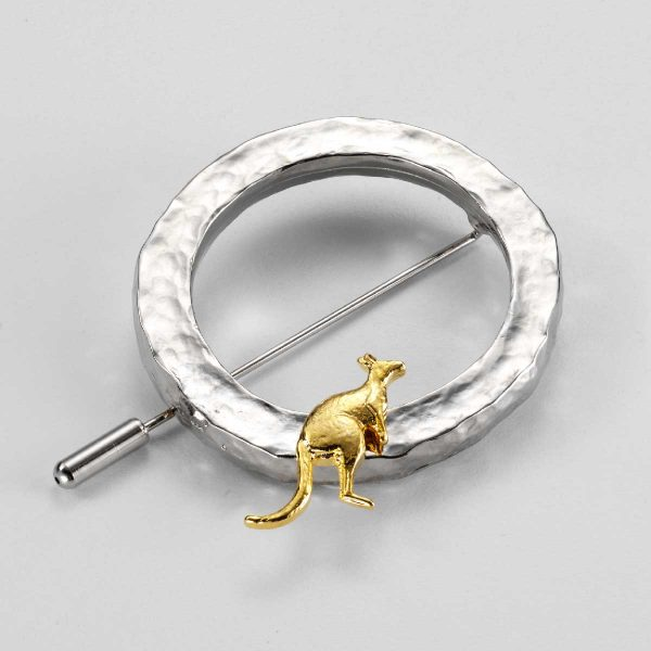 Nickel Plated Irregular Ring Pendant with Gold
