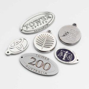 Keyring Badge with logo branding